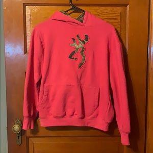 Pink Browning camo hoodie